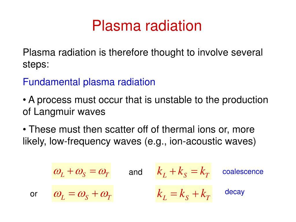 Plasma radiation