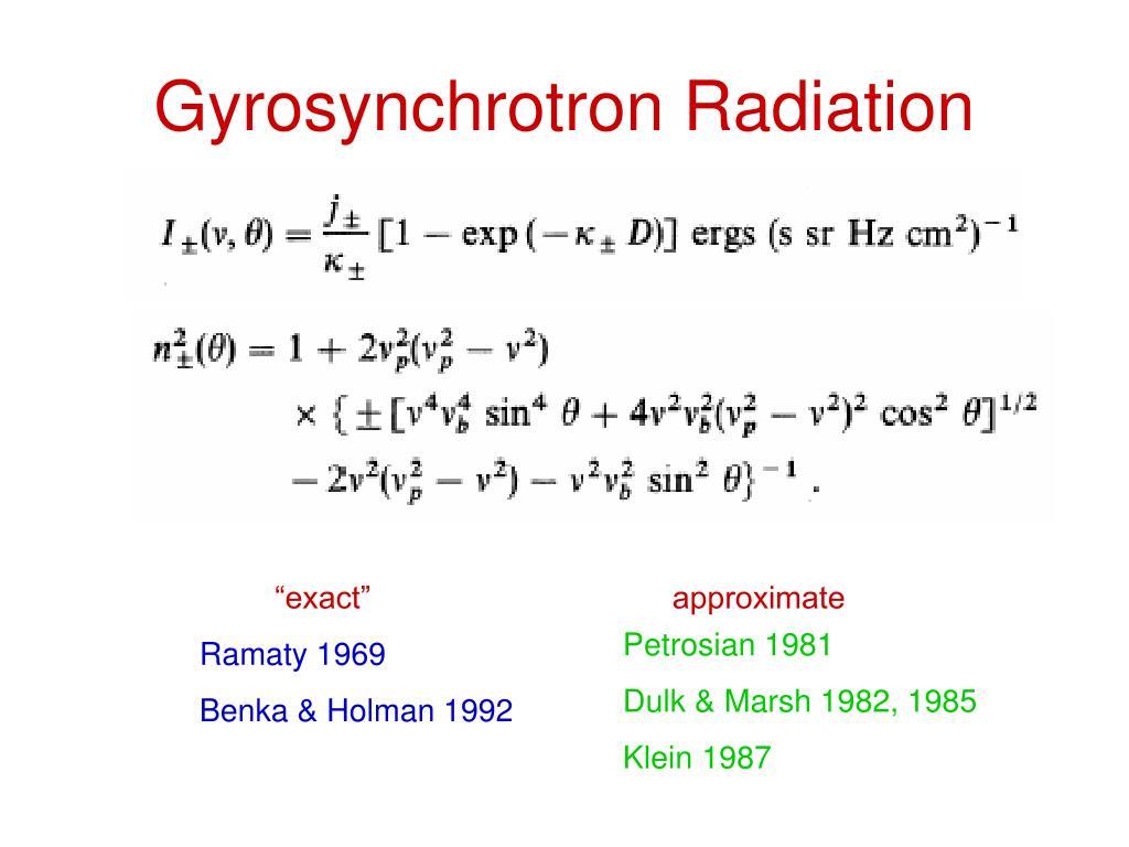 Gyrosynchrotron Radiation