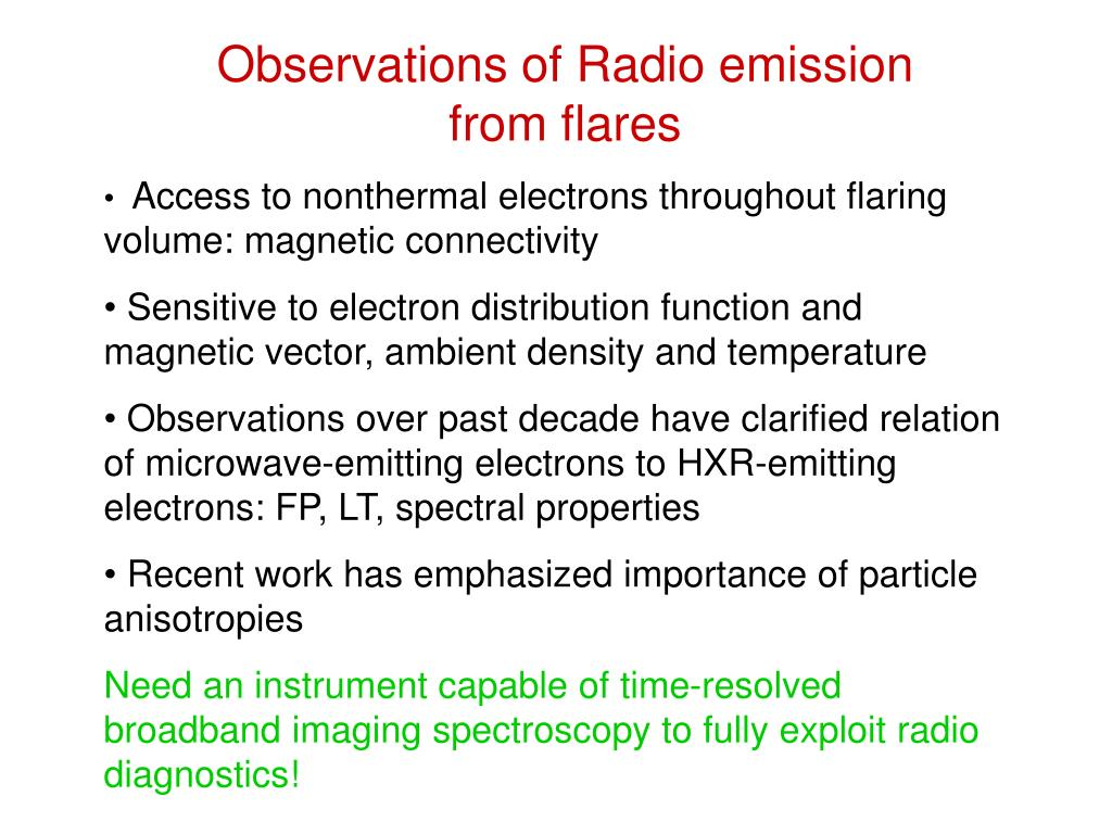 Observations of Radio emission from flares