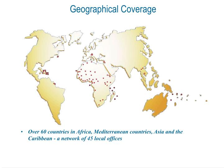 Geographical coverage