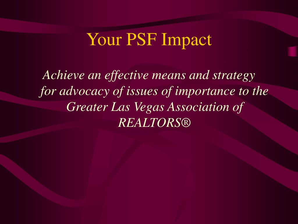 Your PSF Impact