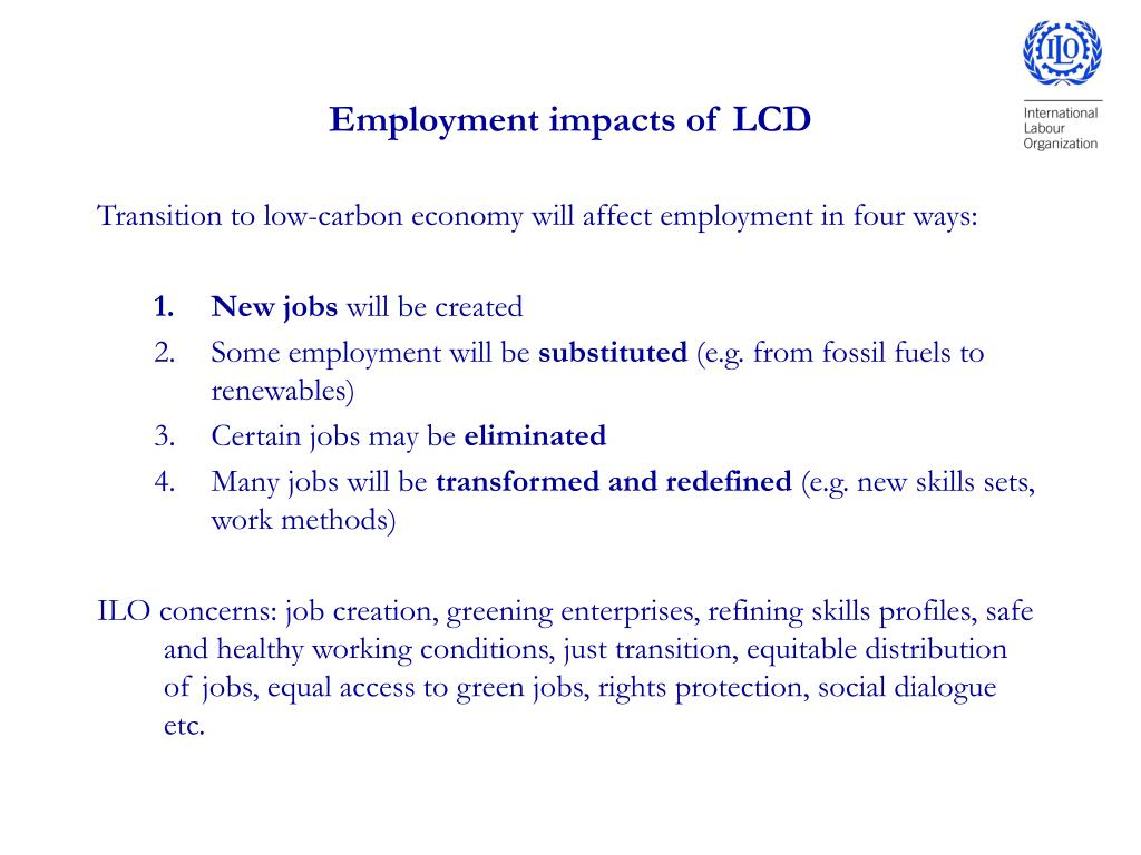Employment impacts of LCD
