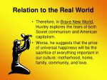 relation to the real world13
