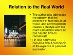 relation to the real world17
