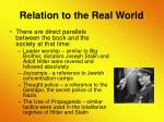 relation to the real world9