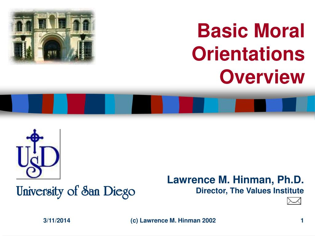 basic moral orientations overview l.