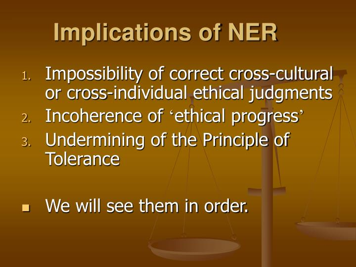 Implications of ner