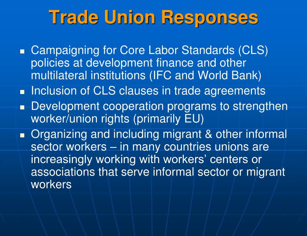 Trade Union Responses