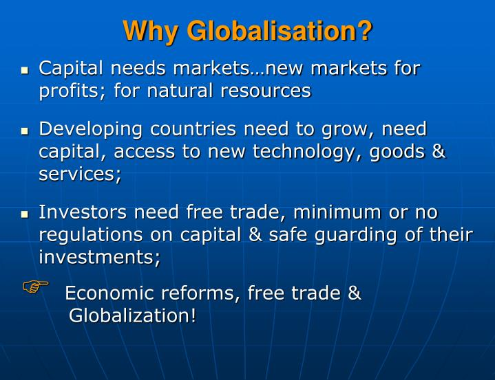 Why globalisation
