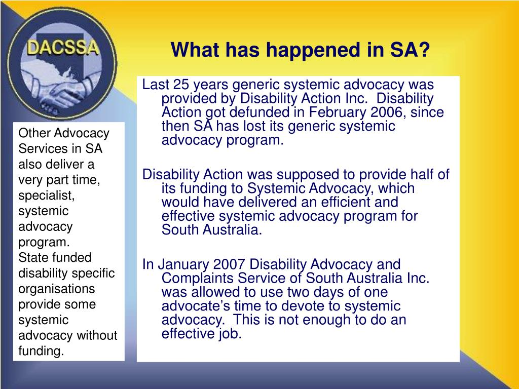What has happened in SA?