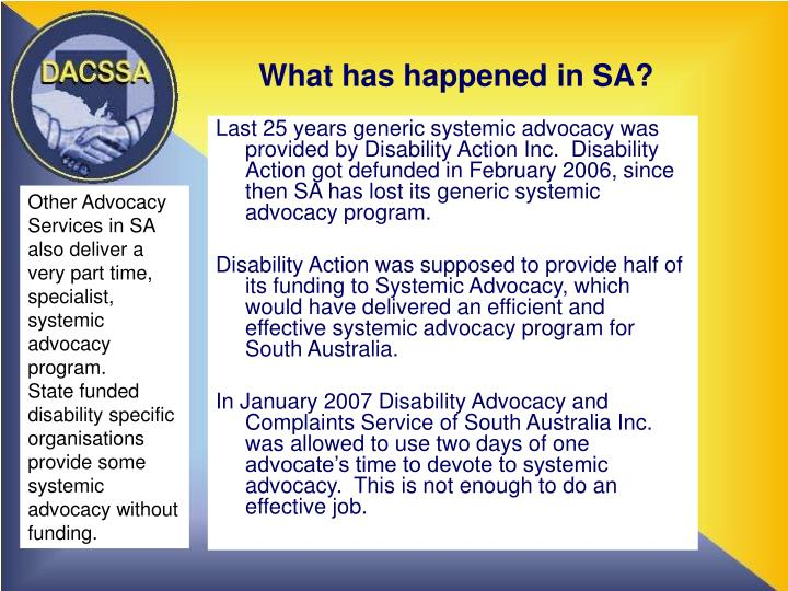 What has happened in sa