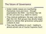 the future of governance