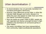 urban decentralisation 2