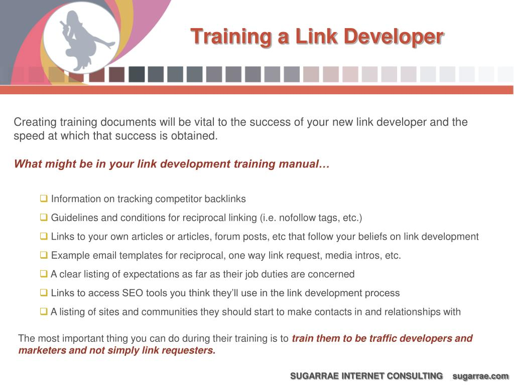 Training a Link Developer