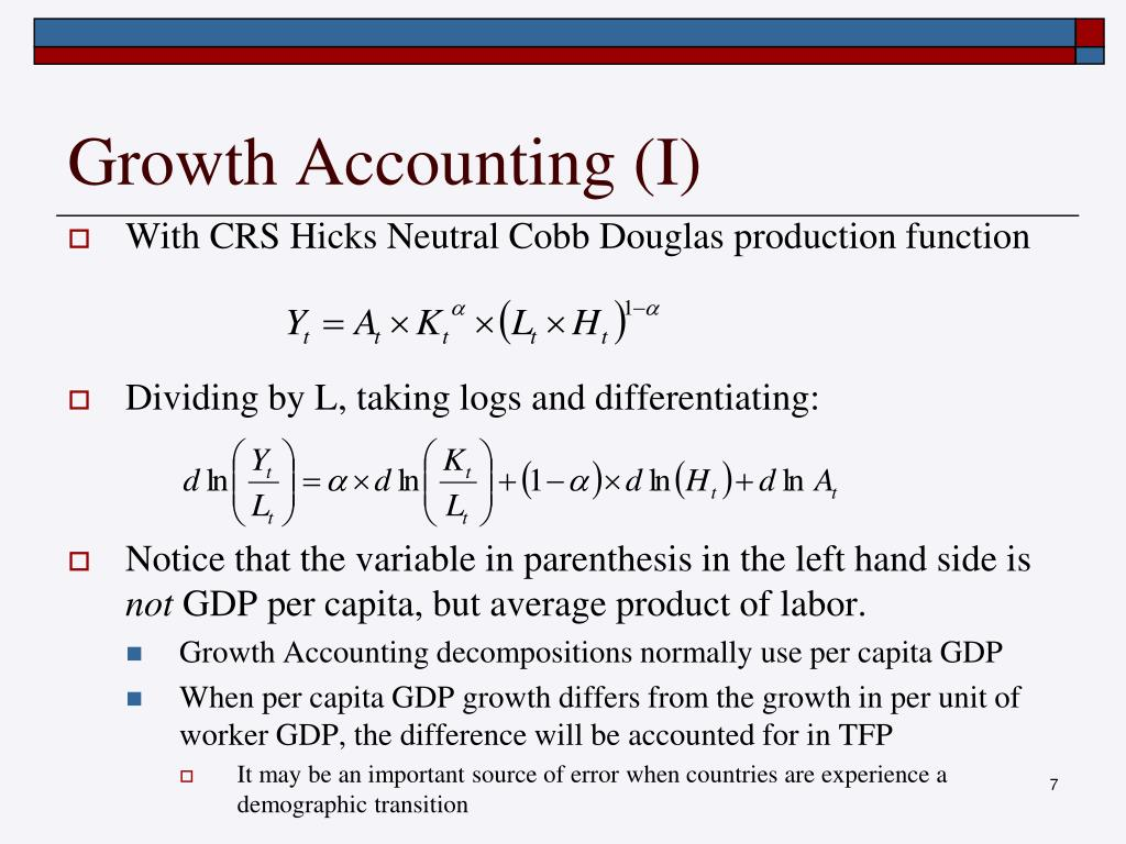 Growth Accounting (I)