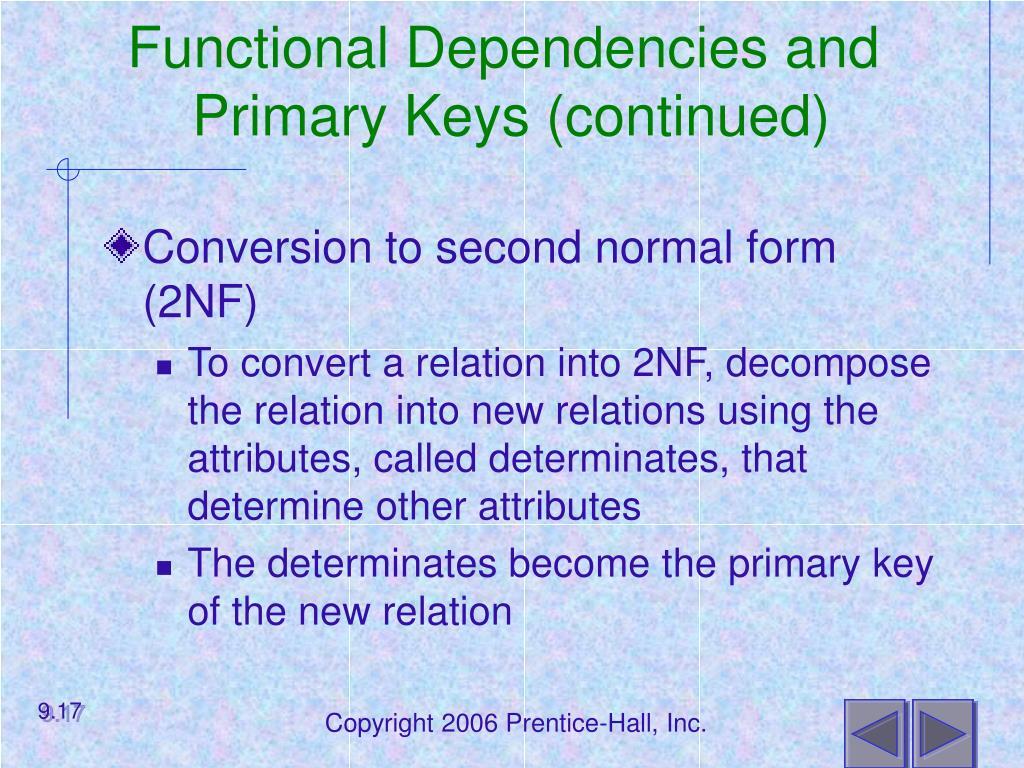 Functional Dependencies and