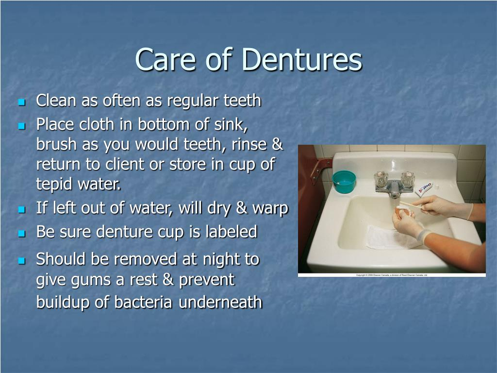 Care of Dentures