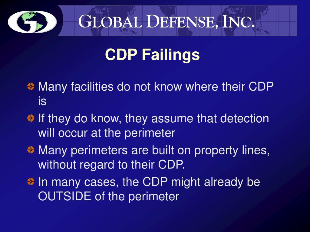 CDP Failings