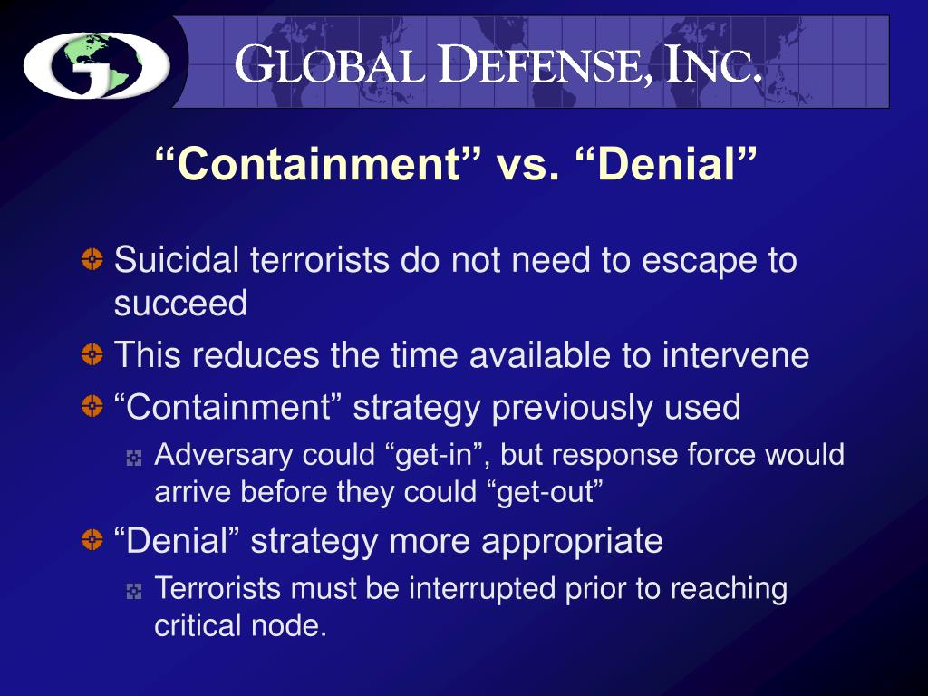 """Containment"" vs. ""Denial"""