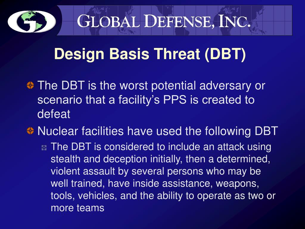 Design Basis Threat (DBT)