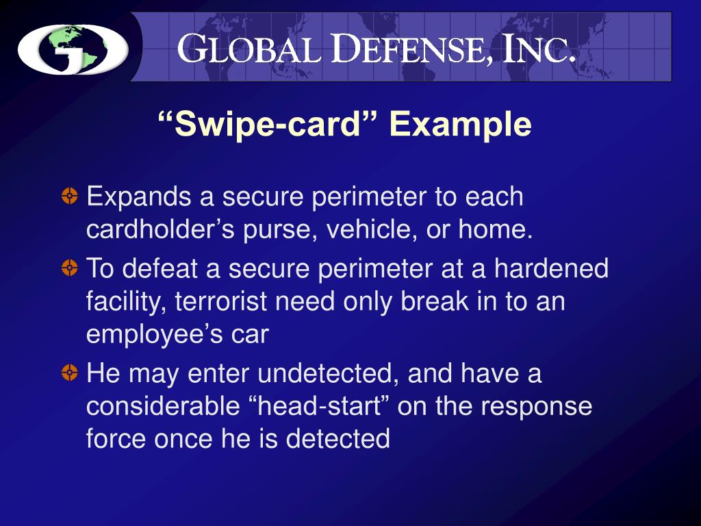 """Swipe-card"" Example"