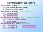 normalization ex cont d