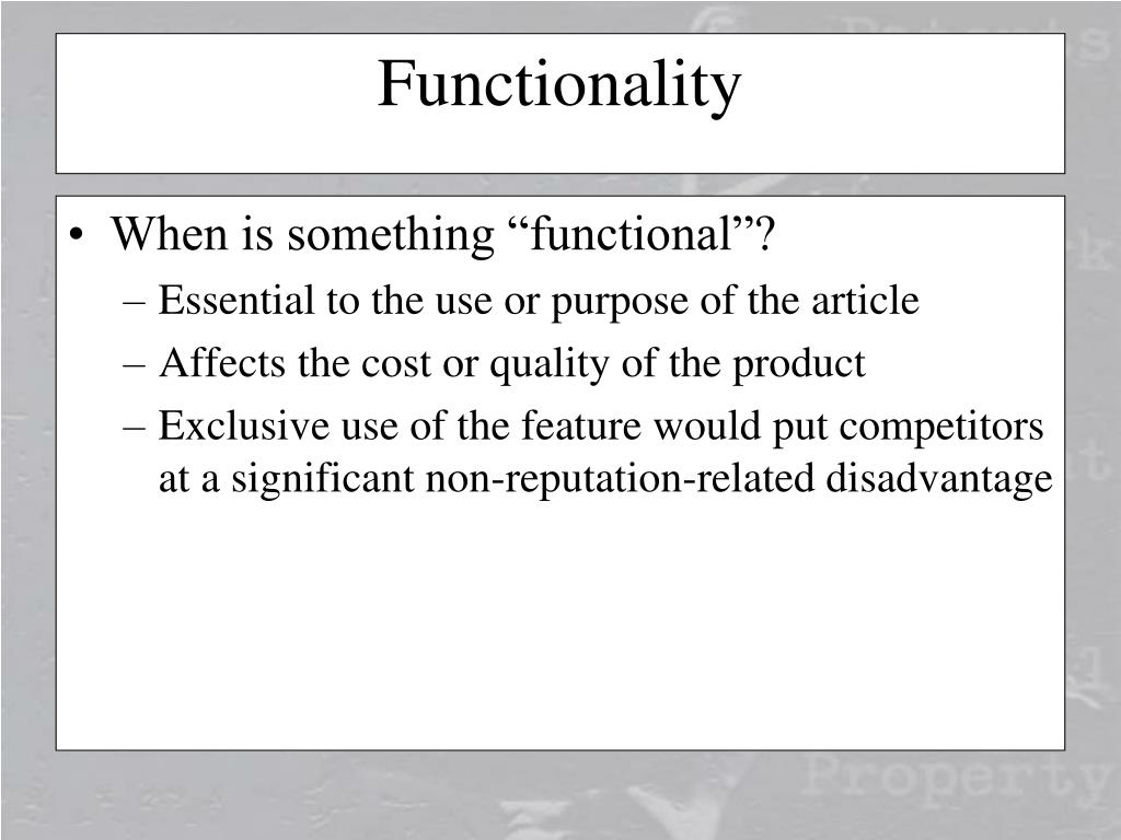 "When is something ""functional""?"