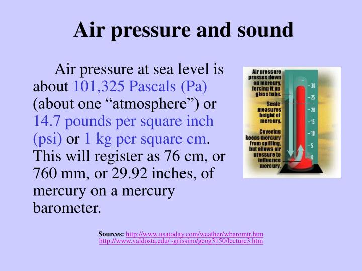 Air pressure and sound
