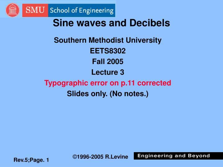 sine waves and decibels n.