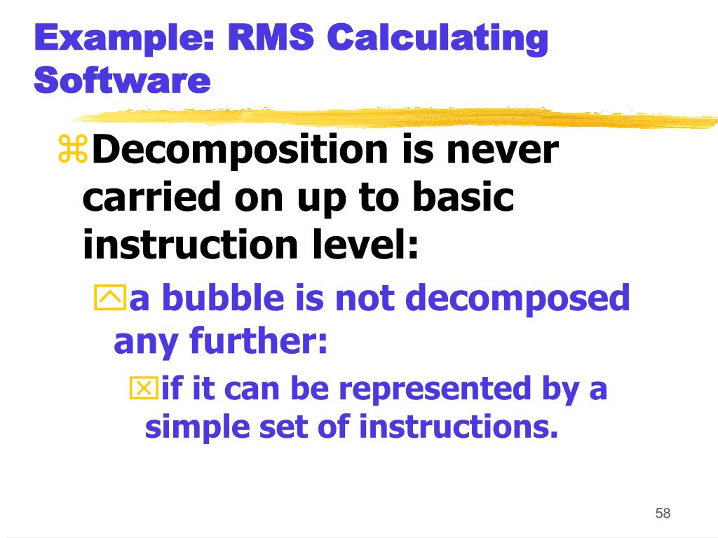 Example: RMS Calculating Software
