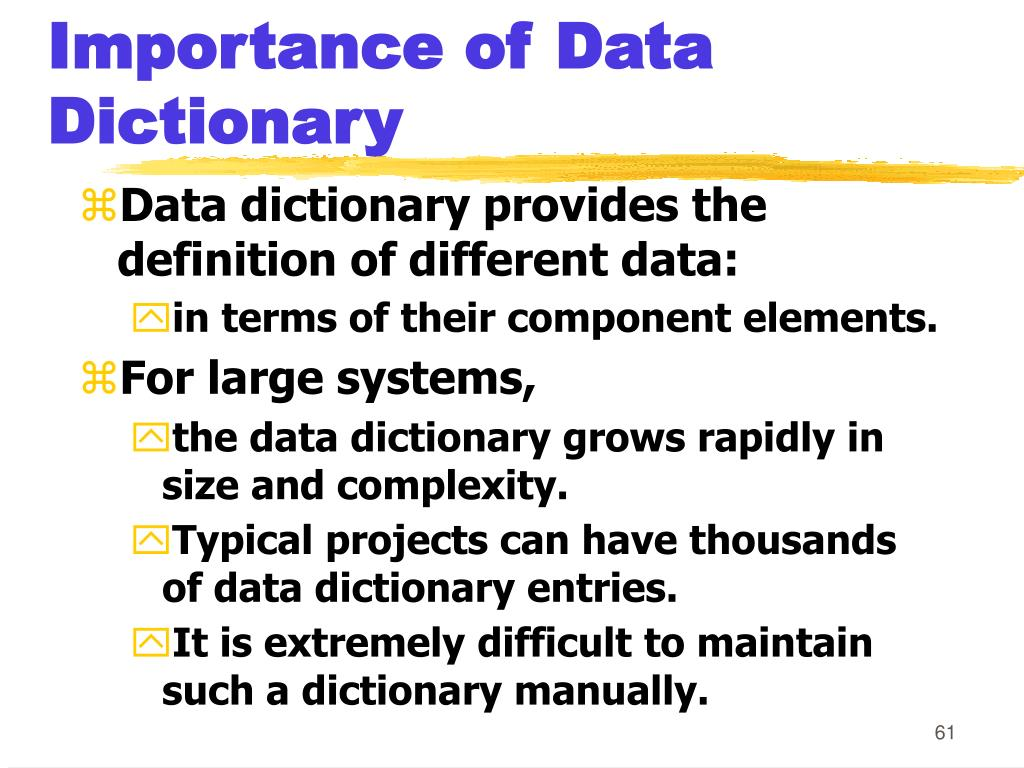 Importance of Data Dictionary