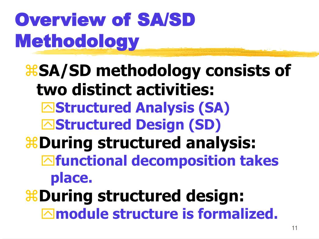 Overview of SA/SD Methodology