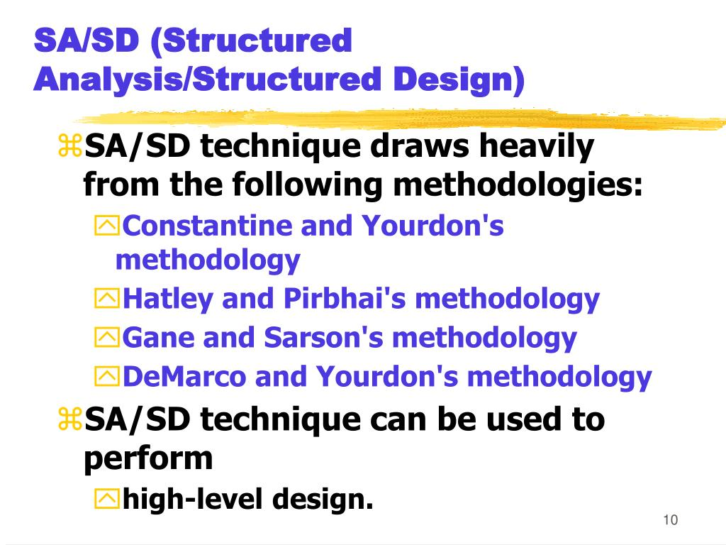 SA/SD (Structured Analysis/Structured Design)