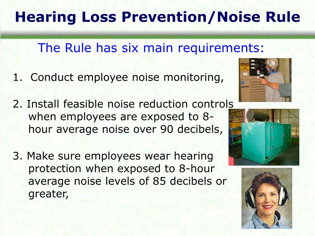 Hearing Loss Prevention/Noise Rule