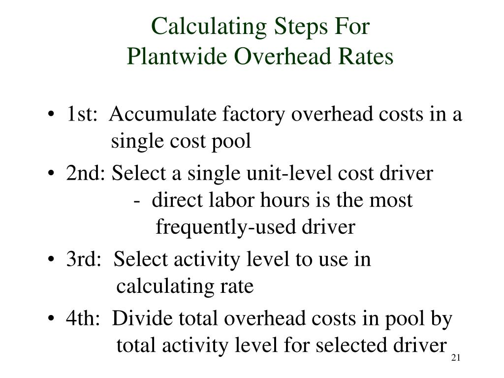 Calculating Steps For