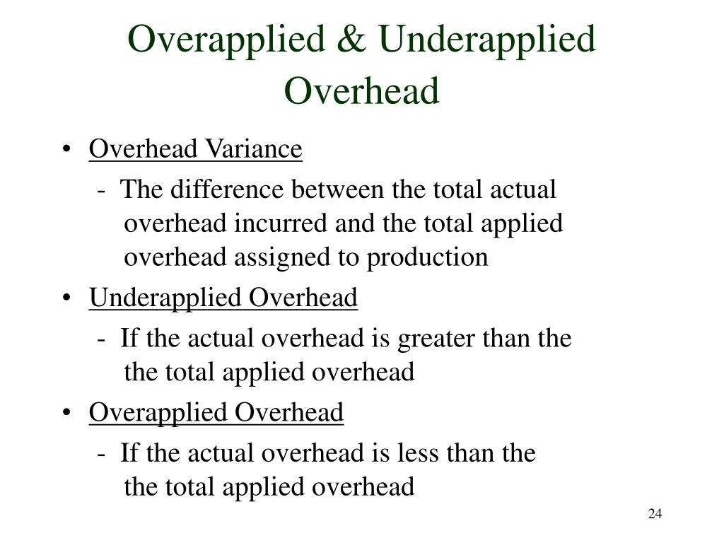 Overapplied & Underapplied Overhead