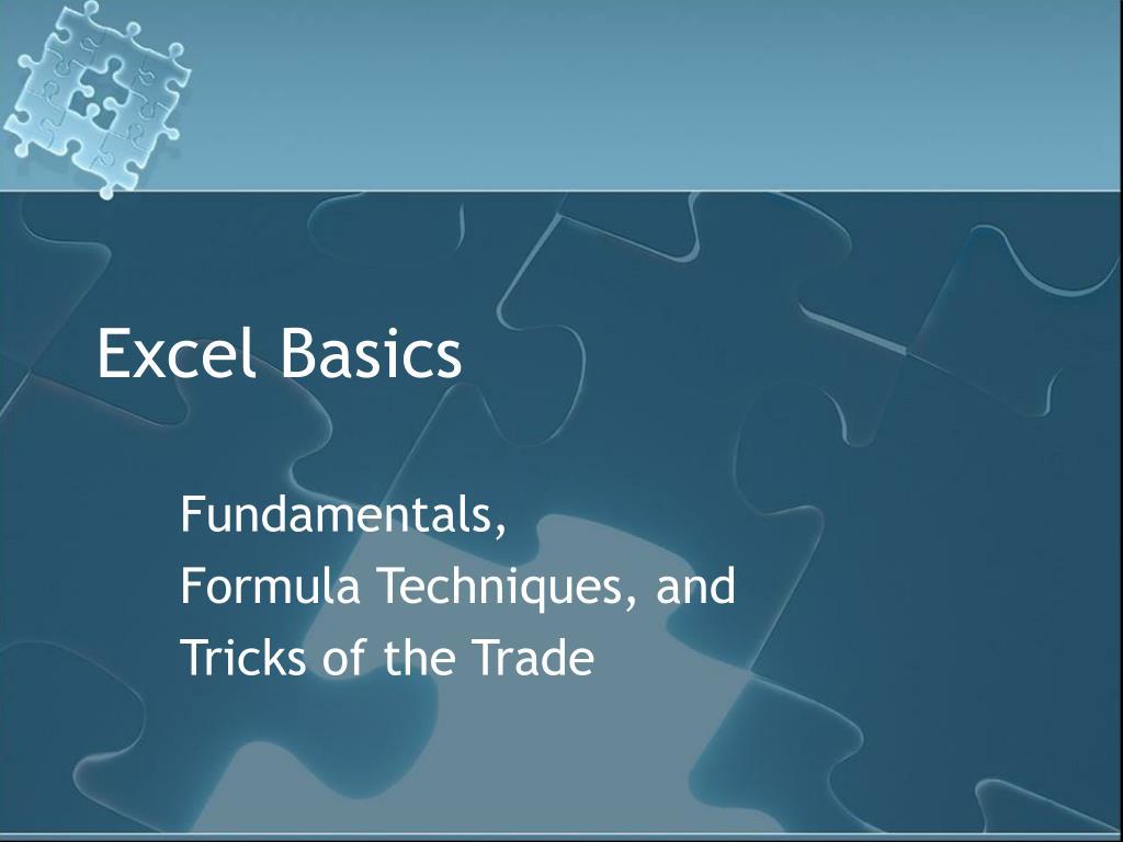 excel basics l.