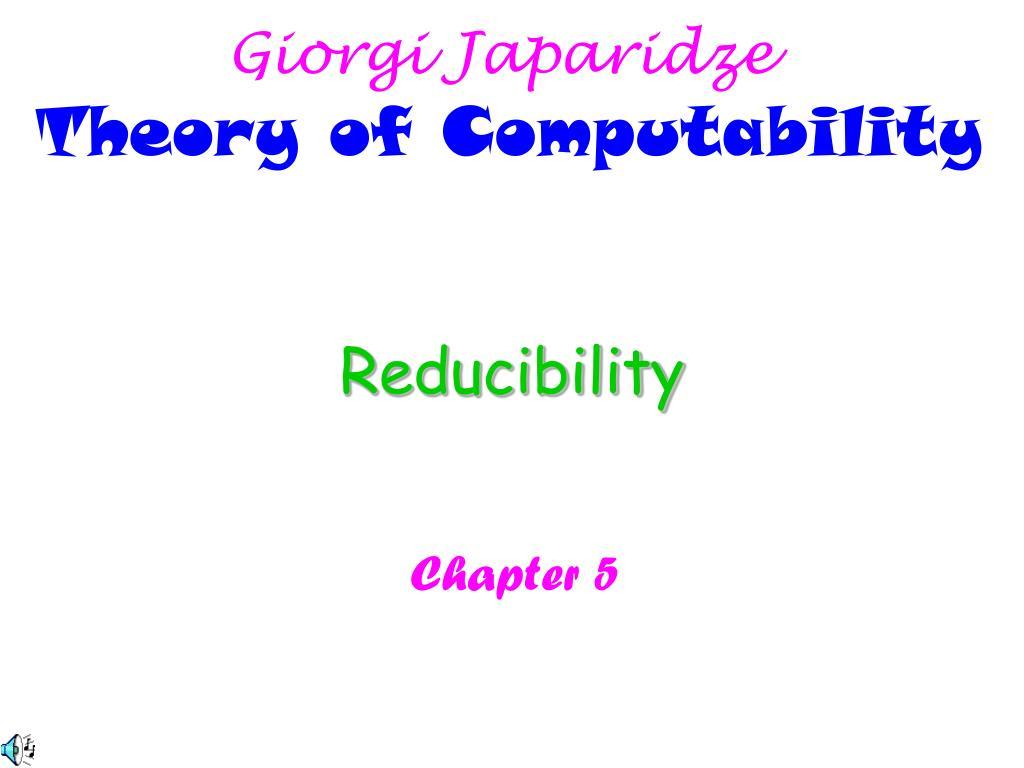 reducibility l.