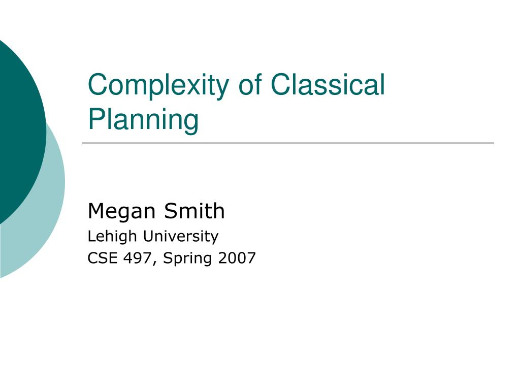 complexity of classical planning