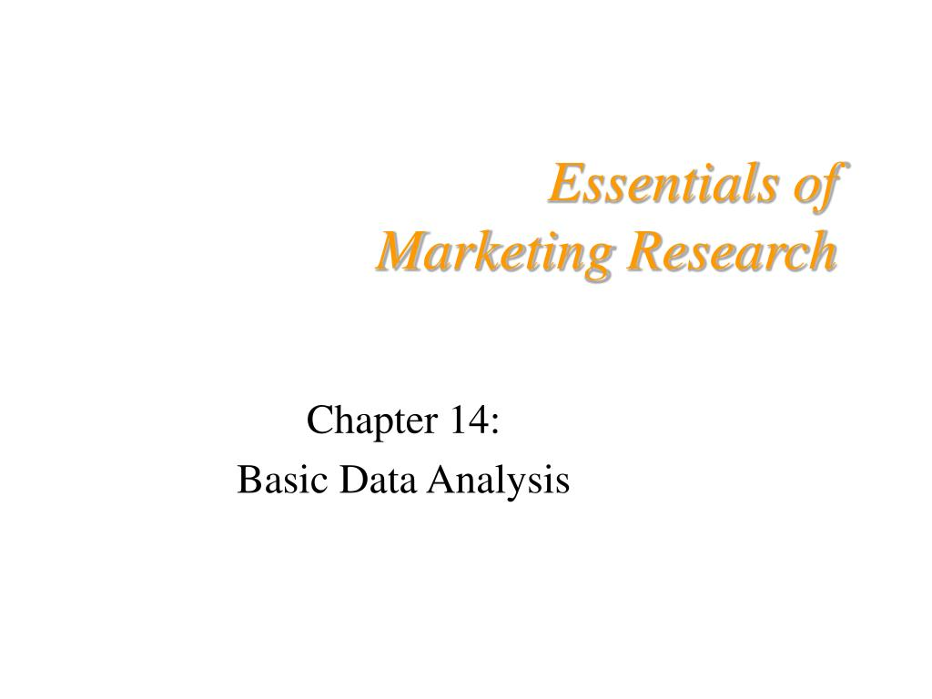 essentials of marketing research l.