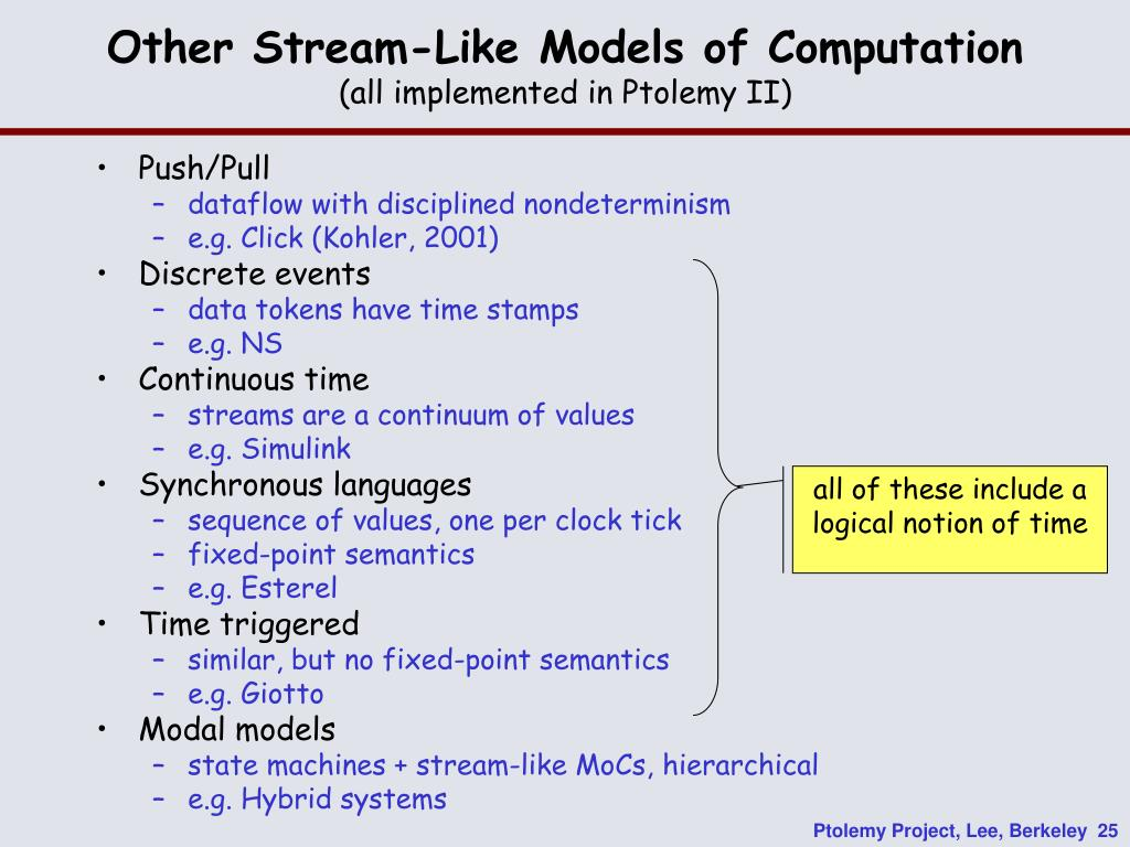 Other Stream-Like Models of Computation