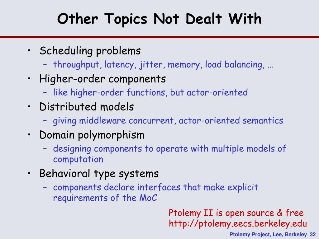 Other Topics Not Dealt With