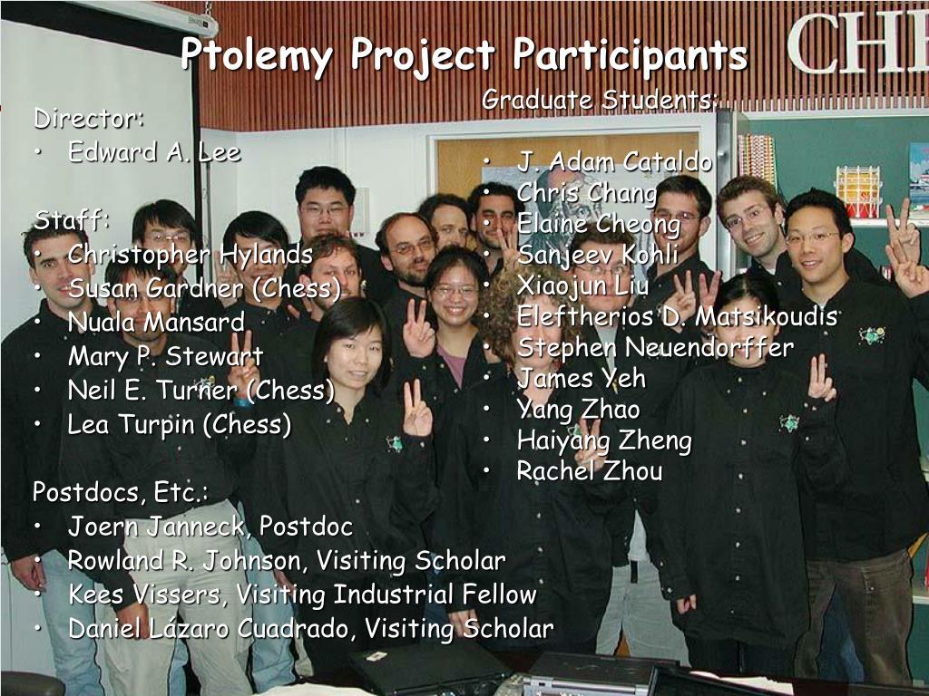 Ptolemy Project Participants