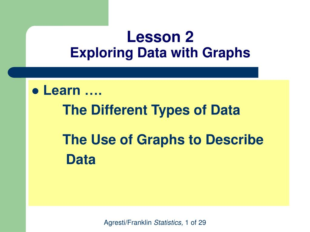 lesson 2 exploring data with graphs l.