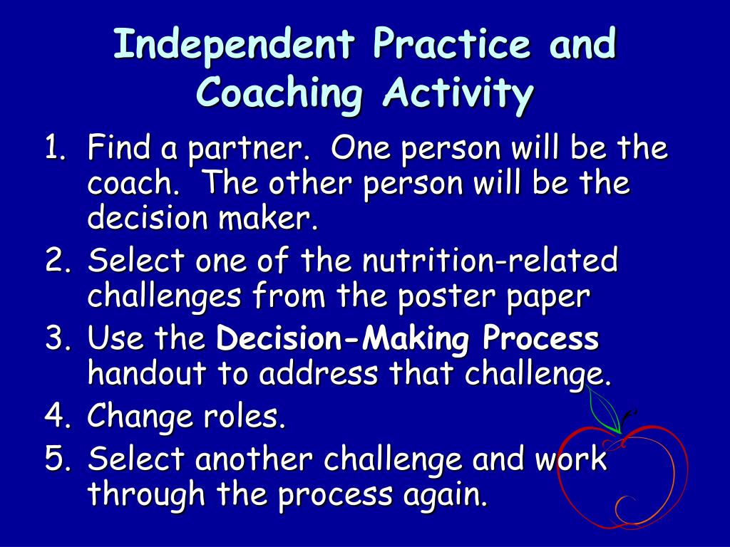 Independent Practice and Coaching Activity