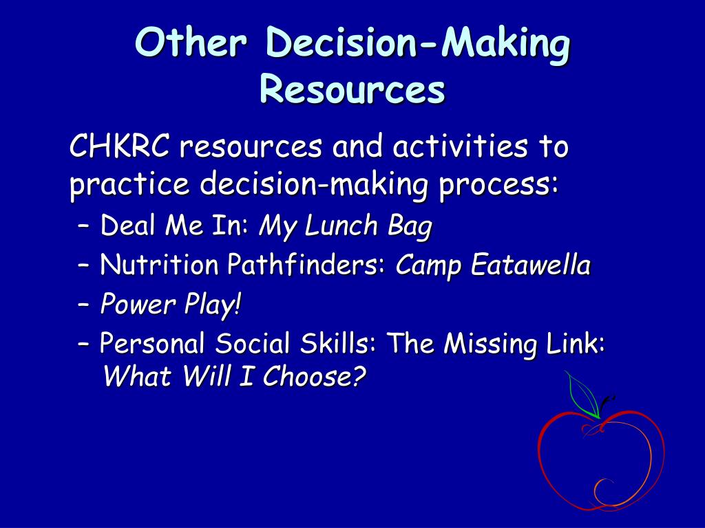 Other Decision-Making Resources