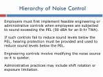 hierarchy of noise control