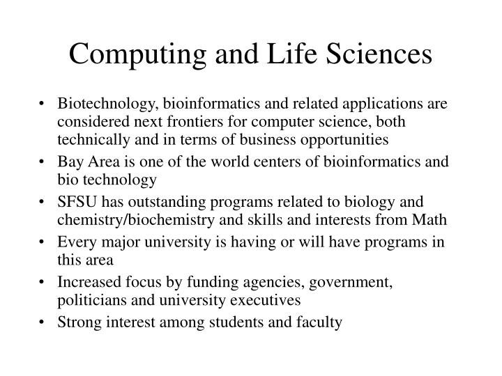 Computing and Life Sciences