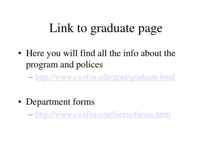 Link to graduate page