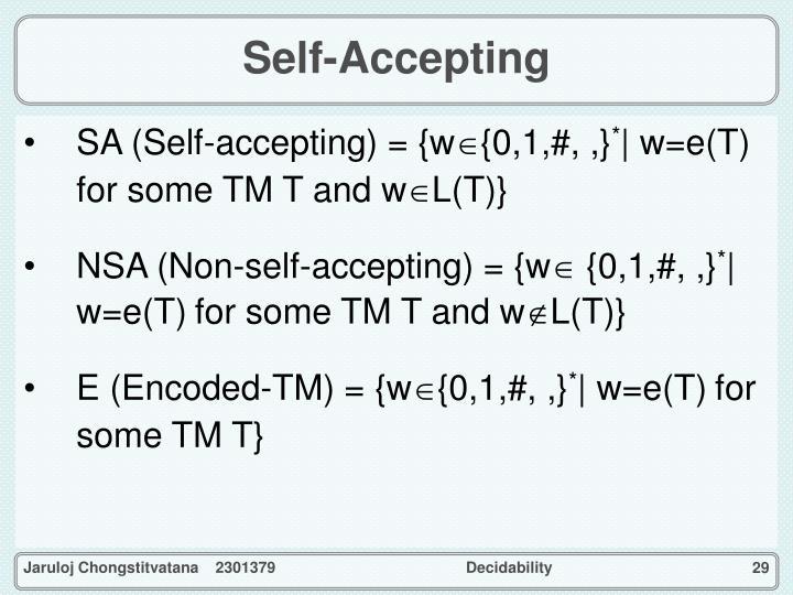 Self-Accepting